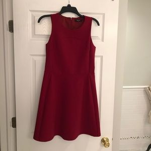 Madewell red maroon dress